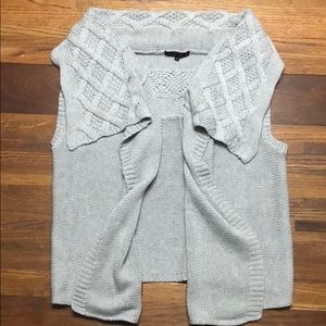 Sweaters - Boutique Gray Knit Sweater Vest
